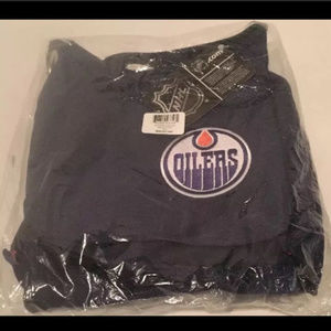 NHL Edmonton Oilers Sport Noir Sheen Hobo Bag